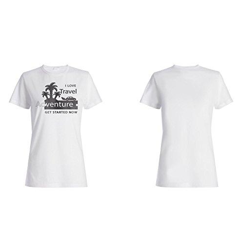 Neue I Love Travel Abenteuer Damen T-shirt l955f