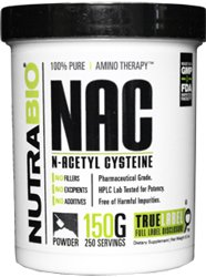NutraBio 100% Pure N-Acetyl-Cysteine (NAC) Powder - 150 Grams