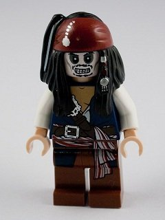 Pirates Caribbean Skeleton - LEGO Pirates of the Caribbean: Jack Sparrow Skeleton Minifigure