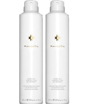 Paul Mitchell Organic Marula Rare Oil Perfecting Hairspray 9.1 Ounce 2 Pack, Lightweight, Flexible Hold, Replenishing, Color Safe, Men & Women, All Hair Types, All Hair Styles, Humidity (Black Light Hairspray)