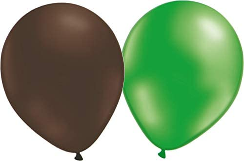 Latex Party Balloons 12 Green and 12 Brown: Amazon.es: Juguetes y ...