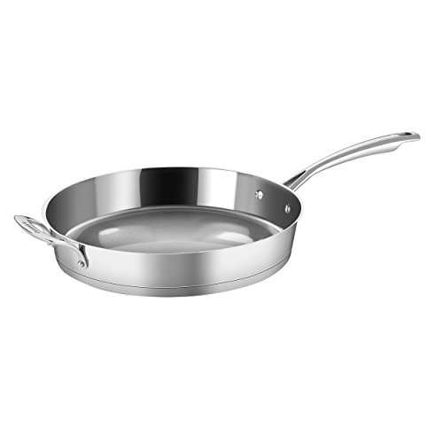 Advantage Stainless Steel Skillet - Cuisinart 72I22-30H Conical Stainless Steel Skillet with Helper, Medium