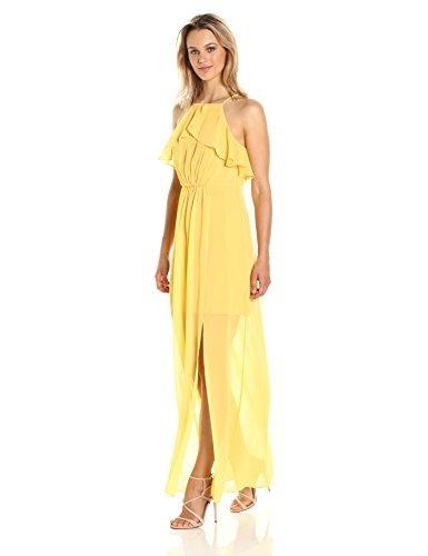 Bt Amber BCBGMAXAZRIA Damen Kleid Gelb 7wxwRtqOS