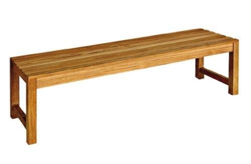 Three Birds Casual Charleston 5-Foot Backless Bench, Teak ()