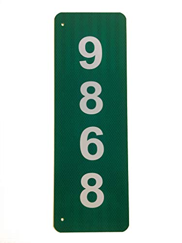 (Custom Reflective Green 911 Address Aluminum Sign)