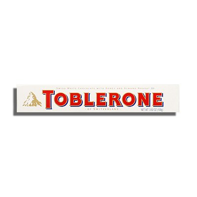 Toblerone White Chocolate With Honey Almond Nougat 100g Pack Of 2