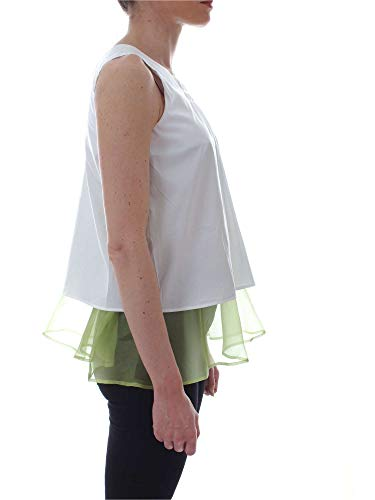 Mujer Blouse Blanco Algodon Xacus 45921white FWqIcFd