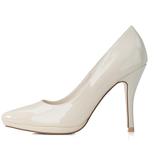 Elobaby Bruiloft Vrouwen Schoenen K0255-23 Formele Klassieke Schoenen Pomp Pu Prom Lovertjes Hoge Hakken Rood
