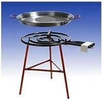 Gas-Brenner schwarz kleiner Burner Balkon Camping Picknick Grill-Set 1-flammig ✔ rund ✔ stehend grillen ✔ Grillen mit Gas