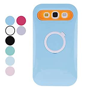 LIMME-ships in 48 hours Ring Design Hard Case for Samsung Galaxy S3 I9300 (Assorted Colors) , Light Blue