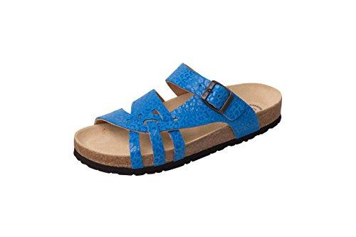 Weeger Bio-Pantolette - Zuecos para mujer blau leo