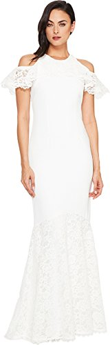Nicole Miller Women's Carlessa Bridal Gown White Dress