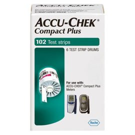 Accu Chek Compact Plus Blood Glucose Test Strips, 51 Count (Pack of 2)