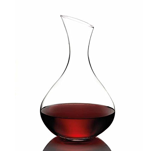 Trinkware Giselle Clear Crystal Curvy Modern Contemporary Wine Alcohol Carafe Barware Decanter