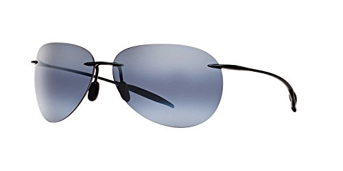 Maui Jim Sunglasses - Sugar Beach / Frame: Gloss Black Lens: Neutral Grey - Pilot Jim Maui