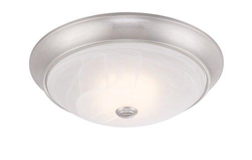 Designers Fountain LED1001-35 Cirrus 11-Inch LED Flushmount, Satin Platinum