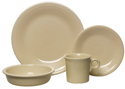 Fiesta 4-Piece Dinnerware Place Setting, Ivory