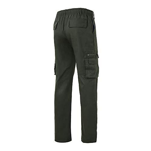 Logobeing Pantalones de Chandal Hombre Trabajo Monta Chino Jogging Chándal Algodon Deportivo para Correr Hombres Pantalon Deporte Hombre con Cordones Army Greem