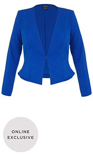 Designer Plus Size JKT SWEET PEPLUM - Cobalt - 22 / XL | City Chic