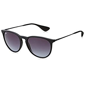 Ray-Ban RB4171 622/8G Erika Classic Non-Polarized Sunglasses, Rubber Black/Grey Gradient, 54mm