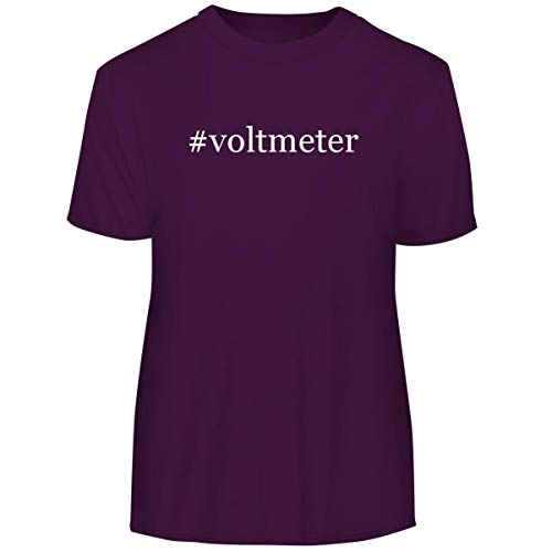 Analog Micro Voltmeter - #Voltmeter - Hashtag Men's Funny Soft Adult Tee T-Shirt, Purple, Large