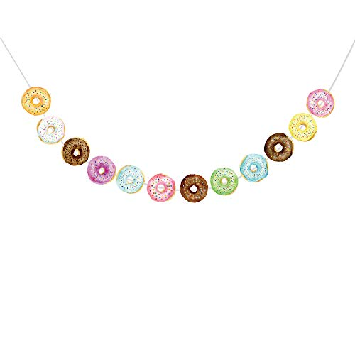 Blue Donut - Donut Food Theme Party Banner /Donut Time Party Decorations/ Doughnut Birthday Party Decorations Supplies Cake, Donut Happy Birthday Banner ,Food Favor Displays For Thanksgiving ,Donut Grown Up Party ,Happy New Year or Birthday Party,Baby Shower Decorations