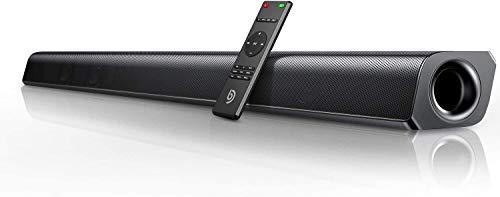Bomaker 37-inch Home Theater TV Soundbar Bluetooth 5.0 Speaker, HDMI ARC/Optical/RCA/Aux/USB Connection, 4 Equalizer Modes