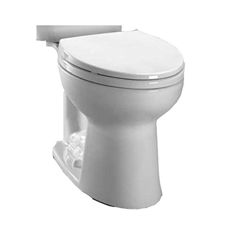 delicate Toto C244EF#01 Entrada Close Coupled Elongated Toilet Bowl, White White