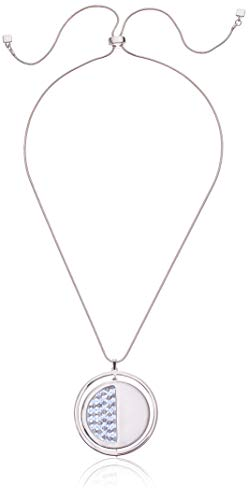Kenneth Cole Women's Woven Bead Geometric Circle Pendant Adjustable Slider Necklace, Blue Mix, One Size ()