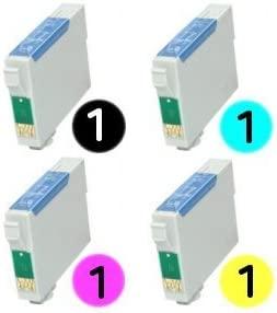 T1285 Multipack 4 cartuchos de tinta compatibles para Epson Stylus S22, SX125, SX130, SX230, SX235W, SX420W, SX425W, SX435W, SX438W, SX440W, SX445W, ...