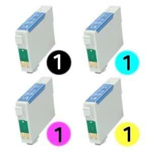 T1285 Multipack 4 cartuchos de tinta compatibles para Epson Stylus S22, SX125, SX130, SX230, SX235W, SX420W, SX425W, SX435W, SX438W, SX440W, SX445W, SX445WE y Epson Stylus Office BX305F, BX305FW, BX305FW Plus impresoras El mejor reemplazo para T1281, T1282, T1283, T1284, T1285, T128540