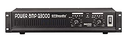 GTD Audio 2 Channel 3000 Watts 2U Stereo Professional Power Amplifier AMP from GTD Audio inc