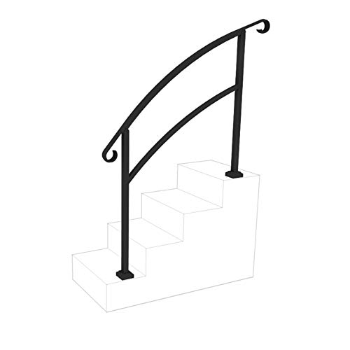 - InstantRail 4-Step Adjustable Handrail (Black)