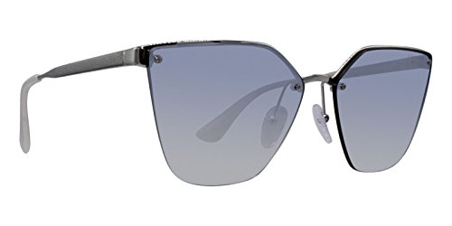 Prada Women's Cinema Evolution Sunglasses, Silver/Blue Silver, One - Sunglasses Silver Prada