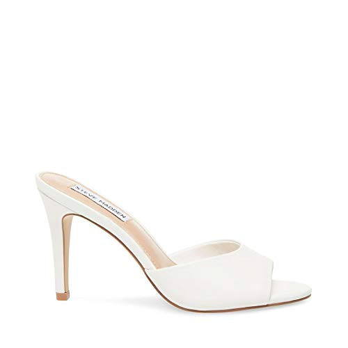 Steve Madden Women's Erin Pump, White Leather,