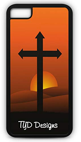 iPhone 7 Case Religious Religion Cross Jesus God Pope Hope Love Spiritual Bible Customizable TYD Designs in Black Plastic (Religious Jerseys)