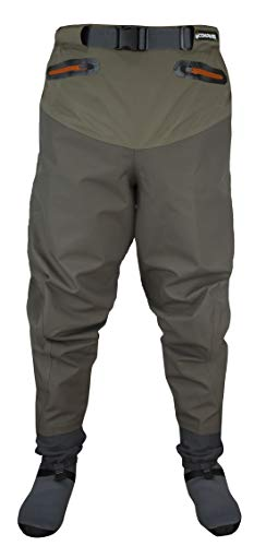 COMPASS 360 Point Guide II Breathable Stockingfoot Waist High Pant Wader (Medium)