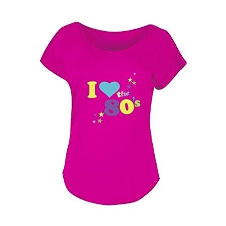 Ladies I Love 80's T-Shirt Womens Pop Star Top Fancy Dress Graphic Design Fashion Party Tops Plus Size 31fQo3VoRZL
