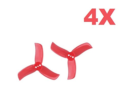 UUMART Gemfan 2040 3-Blades Hulkie (2x4x3) Propellers 8Pieces(4CW, 4CCW) Polycarbonate 2-inch Tri Blades Micro Quadcopters & Multirotors Props