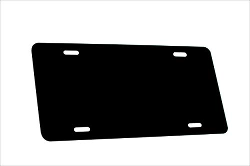 - Partsapiens Corp. Black Knight - Anodized Aluminum License Plate Blank Heavy Gauge .040 (1mm) - 12x6