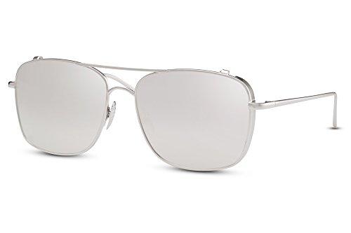 invisible métal Femmes Ca effet Lunettes Rondes aviateur de Cheapass de plats miroir Pilote soleil 001 Monture Hommes faites UV400 verres wZqPnT