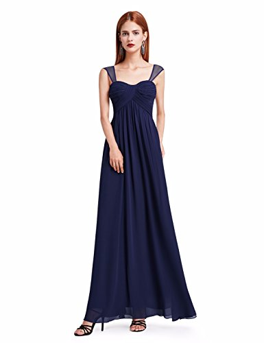 Ever-Pretty Womens Floor Length Adjustable Mother Of The Bride Dress 14 US Navy Blue