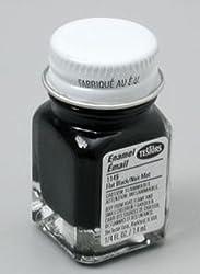 Black Flat Testors Enamel Plastic Model Paint by TESTORS