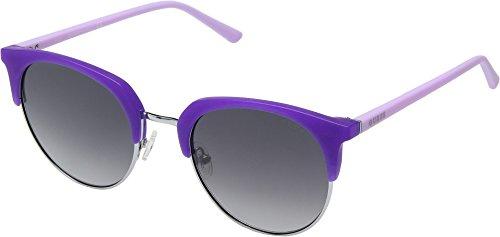 GUESS Women's GU3026 Matte Violet/Gradient Smoke One Size (Sonnenbrille Damen Guess)