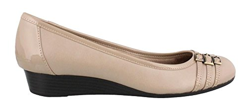 LifeStride Women's Farrow Wedge Pump Stone