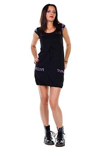 09484894230f 3Elfen Dress Heidi Mini - short sleeves - casual fitting - Summer dresses  in black -