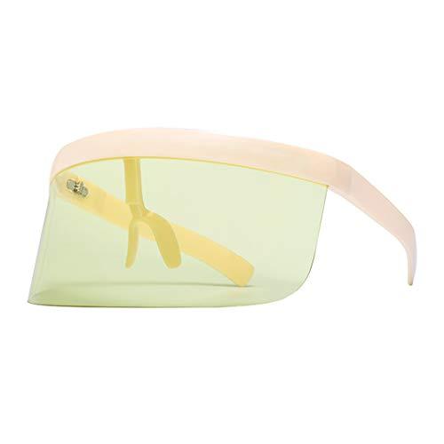 Naimo Oversize Shield Visor Sunglasses Flat Top Mirrored Mono Lens 170mm