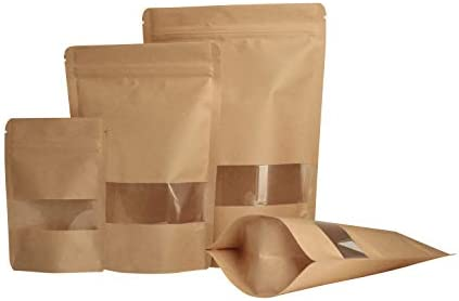 Kraft Stand Up Pouch Clear Window product image