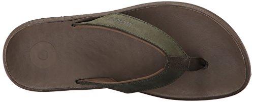 Bogs Mens Hudson II Leather Waterproof Sandal Dark Green TBSpn7a2U