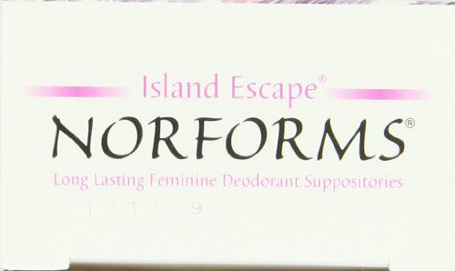 Norforms Deodorant Suppositories, Island Escape, 12 Count (Pack of 3)